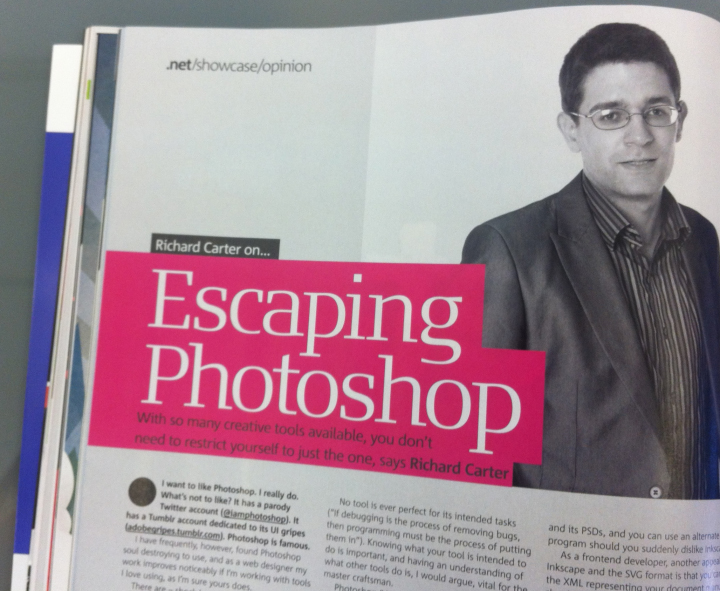 Richard Carter in .net magazine August 2012