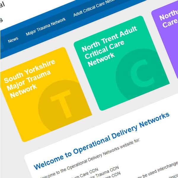 Website design for NHS