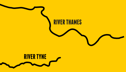River Tyne vs River Thames (not to scale)