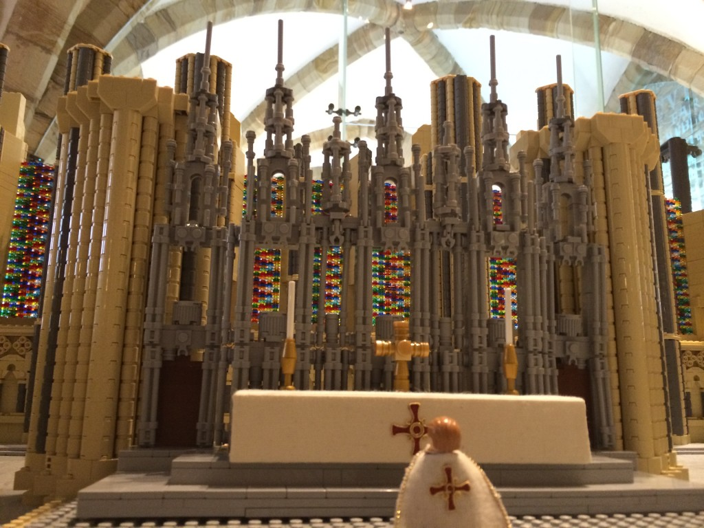 Durham Cathedral in Lego - altar