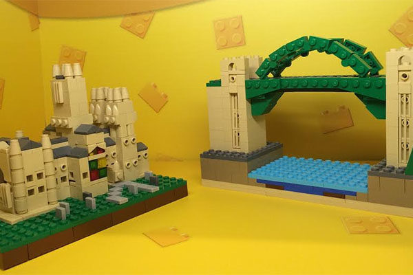 My LEGO models on display at the Metrocentre LEGO store